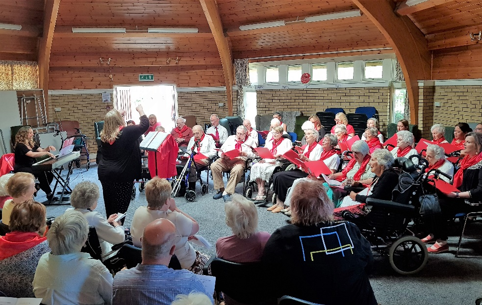 Care homes unite to share the joys of singing at special concert