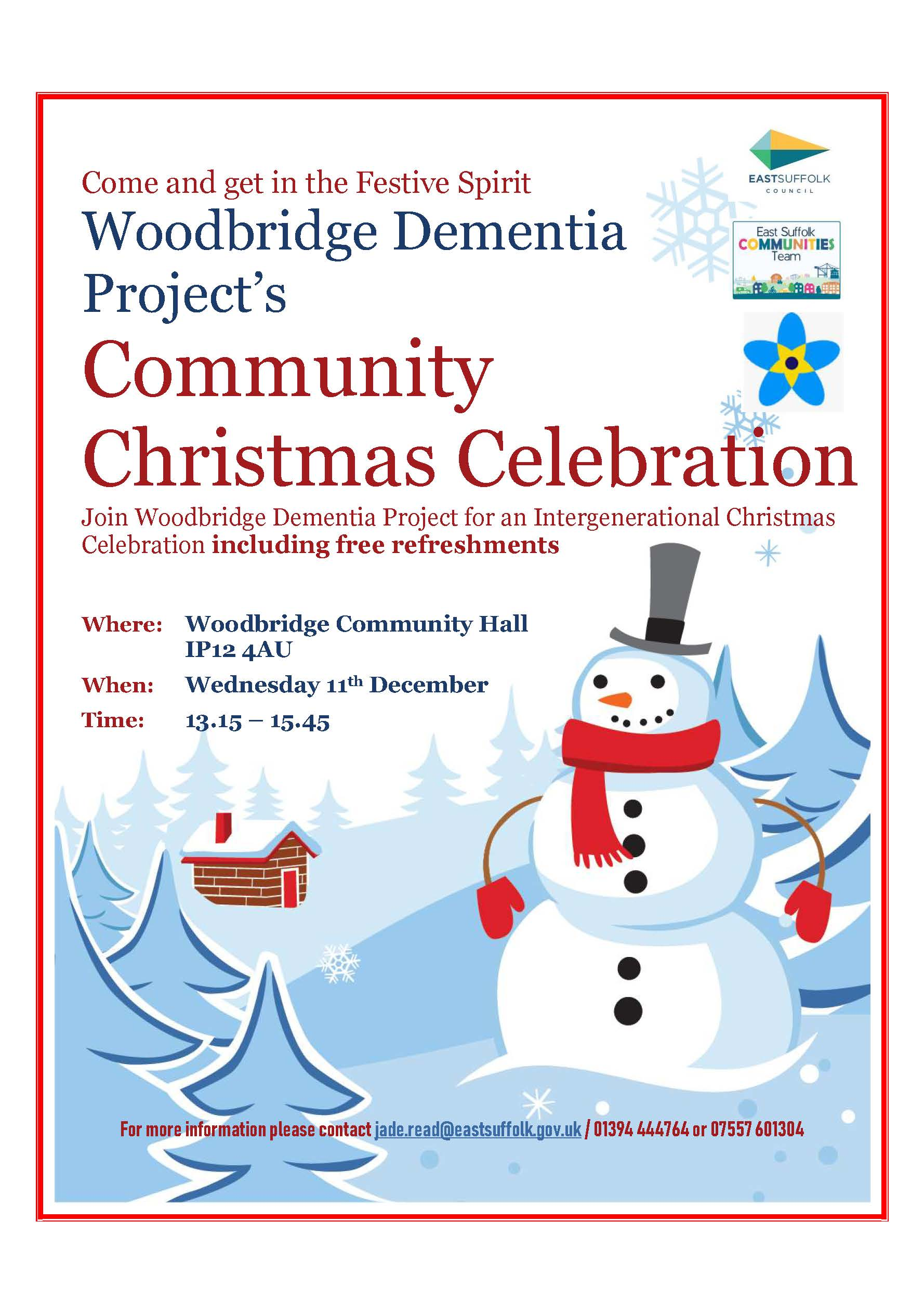 Woodbridge Dementia Project host Community Christmas Celebration